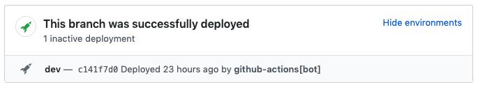 inactive GitHub deployment